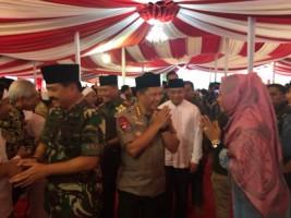 Bupati Tuba Ikut Sambut Kapolri dan Panglima TNI
