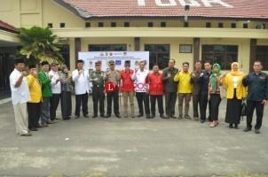 Ciptakan Pemilu 2019 Kondusif, Parpol dan KPUD Tubaba Berikrar dan Menandatangani Deklarasi Damai di Polres Tulangbawang