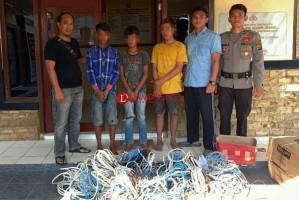 Curi Kabel Tembaga, 3 Bocah Putus Sekolah Ini Diamankan Polisi