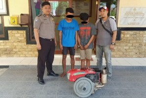 Curi Mesin Bajak Sawah, Dua dari Tiga Komplotan Pencuri Ini Dibekuk Polsek Denteteladas
