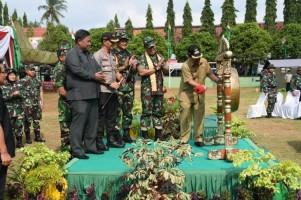 Dandim dan Wali Kota Buka Kegiatan TMMD Karya Bakti Imbangan di Rajabasajaya