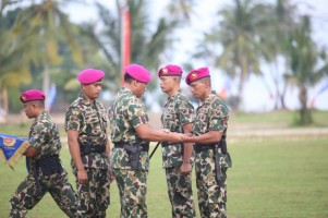 Dankormar Pimpin Sertijab Danbrigif-3 Marinir