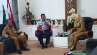 Danlanud Pangeran M Bunyamin Kunjungi Bupati Winarti