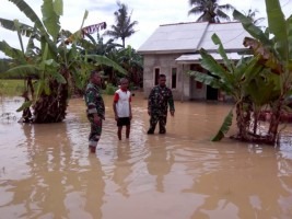 Danramil Mesuji Pastikan Anggotanya Siaga Banjir
