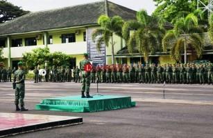 Danrem 043/Gatam Pimpin Upacara Peringatan Harkitnas Ke- 110