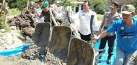 DD Tahap Pertama, Desa Palasjaya Realisiasikan Bangun Jalan Rabat Beton