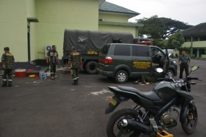Denpal B.02.03 Lampung Uji Kelayakan Kendaraan Anggota Korem 043/Gatam