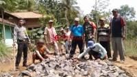Desa Kemalo Abung Bangun Jalan Onderlag dari DD Tahap II