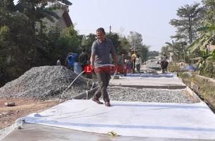 Desa Simpang Mesuji Mulai Bangun Jalan
