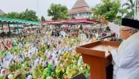 Di Kendal, Ma'ruf Amin Tegaskan Indonesia Takkan Bubar