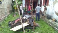 Diduga Konsleting Listrik, Rumah Warga Bangunan Terbakar
