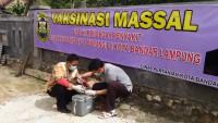 Dinas Pertanian Bandar Lampung Vaksin Ribuan Unggas di Campangjaya