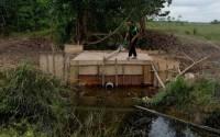 Dinas Pertanian Mesuji Bangun Pintu Air di Tirtalaga