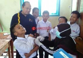 Dinkes Lamsel Upayakan Pendekatan ke Sekolah Terkait Imunisasi MR