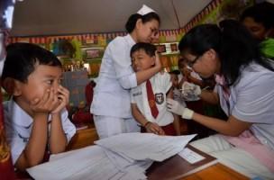 Dinkes Layani Imunisasi Vaksin MR di Mall
