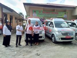 Diskes Lambar Segera Distribusikan Ambulans Hebat ke Kecamatan