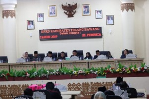 DPRD Kabupaten Tulangbawang Gelar Rapat Paripurna