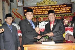 DPRD Lampura Gelar Rapat Paripurna Penetapan Kepala Daerah Terpilih 2019-2024
