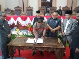DPRD Lamtim Gelar Paripurna Pengumuman Pimpinan Dewan Periode 2019-2024