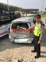 Dua Mobil Terlibat Lakalantas di Jalan Tol Trans Sumatera