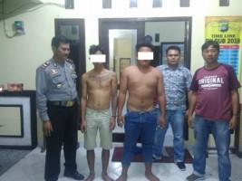 Dua Pelaku Pencurian Ponsel Dibekuk Jajaran Polsek Sragi