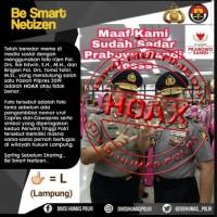 Foto Dua Jenderal Lampung Dukung Pasangan Capres Hoaks