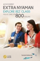 Garuda Indonesia Kenalkan Explore Business Class