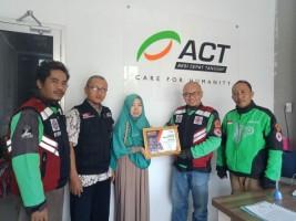 Gaspool Salurkan Hasil Penggalangan Dana ke ACT Lampung