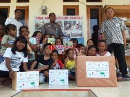 Gelar Bulan Bakti, Karantina Pertanian Donasikan Buku Bacaan Anak di Pesisir Bakauheni