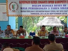 Gelar Reses, DPRD Pesawaran Menyoroti Pembangunan Jalan Rigit dan Drainase