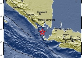 Gempa 4,5 SR Guncang Barat Daya Pesawaran