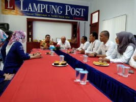 GM PLN Distribusi Lampung Silaturahmi ke Lampung Post