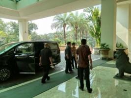 Gubernur dan Wakil Gubernur Lampung Terpilih Tiba di Hotel Borobudur