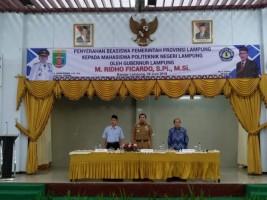 Gubernur Lampung Disambut Meriah Mahasiswa