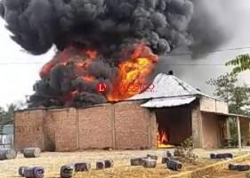 Gudang BBM di Bukit Kemuning Ludes Terbakar