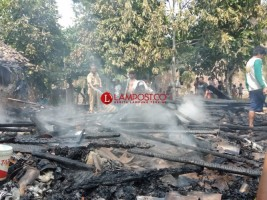 Gudang Gabah di Candipuro Ludes Terbakar