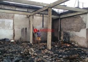 Gudang Mebel di Kotabumi Ludes Terbakar