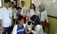 Hari Pertama, 385 Anak di Palas Terimunisasi MR