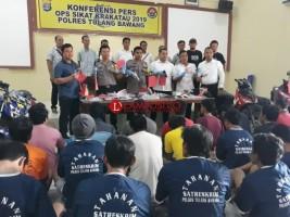 Hasil Operasi Krakatau, Polres Tuba Tangkap 32 Tersangka