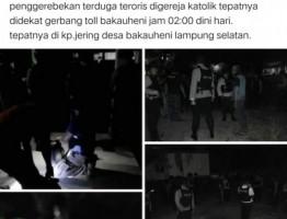 Heboh di Medsos, Kapolres Lamsel BantahAda Penggrebekan Teroris