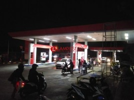 Heboh Kebakaran di  SPBU Langkapura, Begini Ceritanya