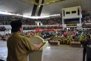 Herman Silaturahmi dengan Kader Posyandu dan Puskes Kelurahan