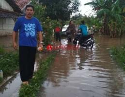 Hujan Deras, Kotabumi Kembali Tergenang Banjir