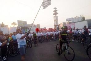 HUT Ke-73 Bhayangkara, Polda Lampung Gelar Fun Bike Hingga Buat Ketoprak