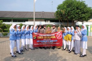 HUT Ke-71, Polwan Polres Lampung Utara Gelar Goes to School
