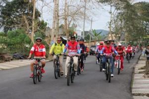 HUT Lambar, Bupati Ikut Fun Bike Gowes Liwa