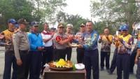 HUT TNI, Polres Lampura Kirim Tumpeng