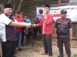 Idul Adha, PDI Perjuangan Lampung Potong Enam Ekor Sapi