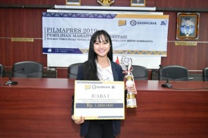 Indah Pramesthi Kirana, Mahasiswa Berprestasi 2019 IIB Darmajaya