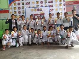 Ini Dia Raihan Medali Inkanas Ranting Polres Lambar di Kejuaraan Karate Dojo Champion II